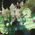 Floats in Savannah's St. Patrick's Day Parade